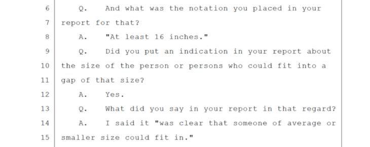 Clark's testimony on the locked dugout small excerpt